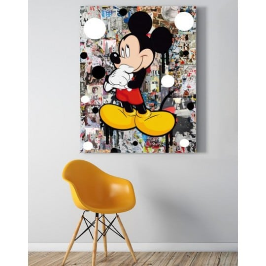 Mickey pop art wall canvas for a colorful interior decoration
