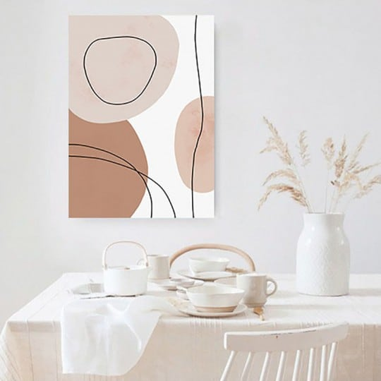 Boho style line art wall canvas print for an unique wall decoration