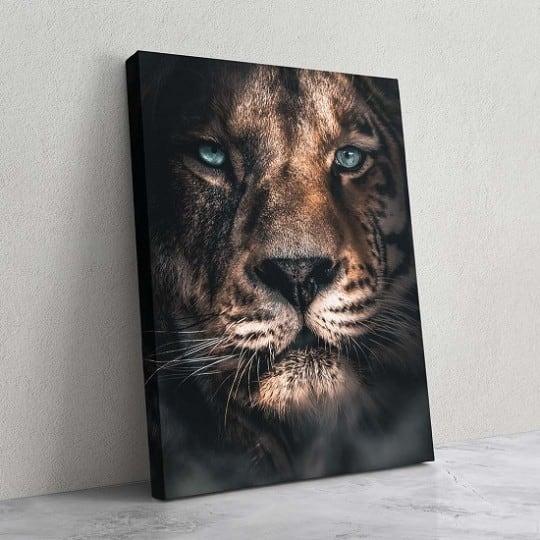 Tableau de lion et guépard pour une décoration murale design et animale