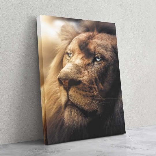 Tableau de lion en pleine lumière pour une décoration murale animal