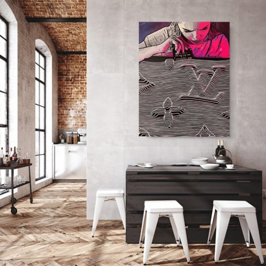 Contemporary canvas addiction of our artist Gab in wall decoration