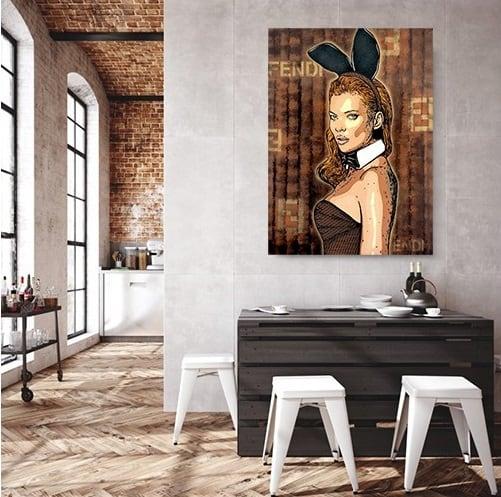 Tableau d'artiste contemporain Gab de Kate Moss pour votre déco murale