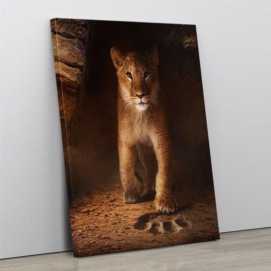 Tableau simba pour une toile imprimée de lion par notre artiste