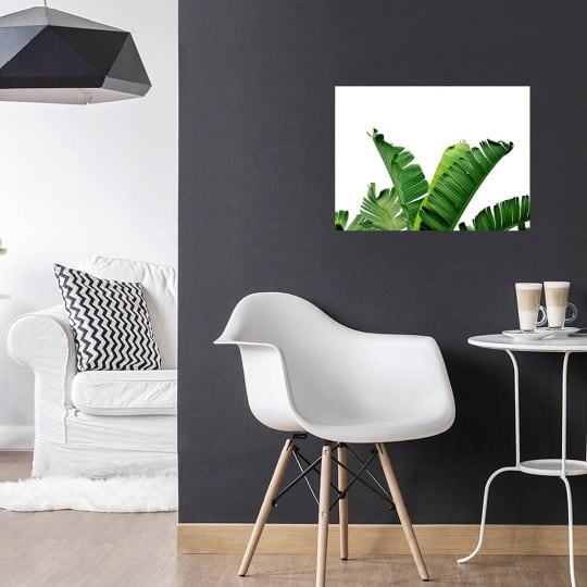 banana tree on an aluminium design art for your interior decoration