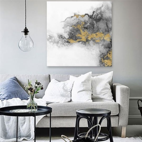 Spreading oil painting on canvas for a unique interior