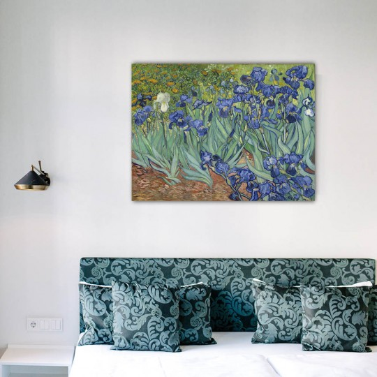 Reproduction oil painting of the frame the Irises for your wall decoration