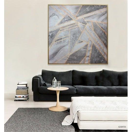 Toile peinture scandinave grise pour une inspiration boho