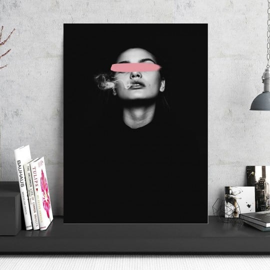 Woman art photo on aluminium frame to create a design interior
