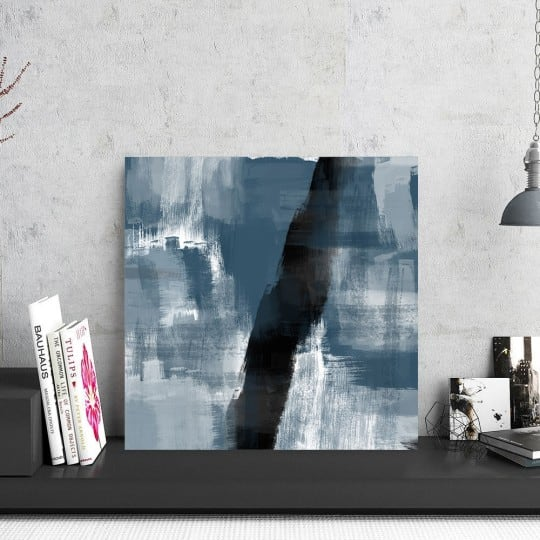 Photo d'art abstraite peinture moderne pour un intérieur bleu et tendance