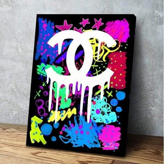 Tableau street art Chanel pour une décoration murale pop art