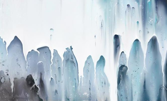 Tableau abstrait de cascade pour une décoration murale moderne