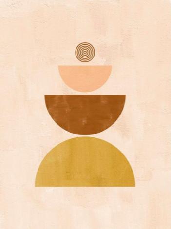 Tableau contemporain de sphère boho pour votre décoration murale design