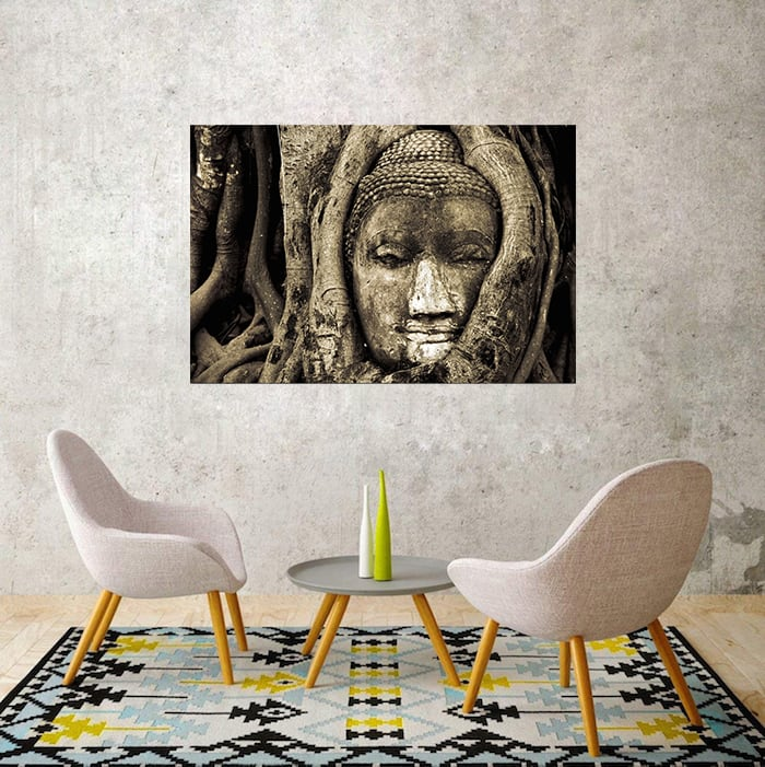 Buddha wall decoration canvas for zen atmosphere