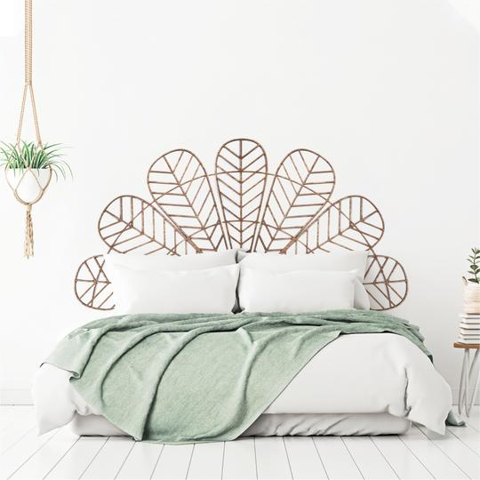 headboard wood wall decoration for a design room