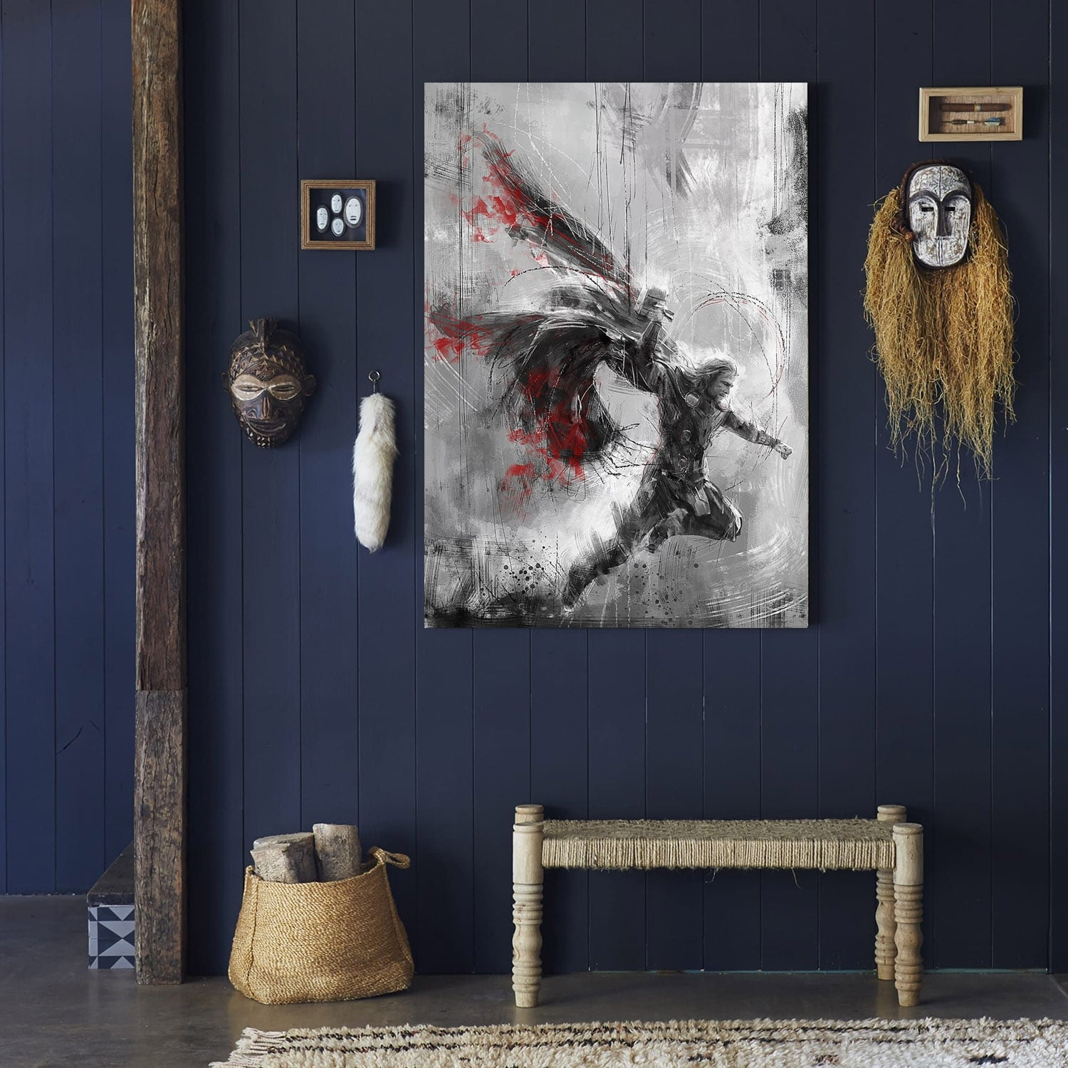 Thor modern design canvas for a unique wall decoration
