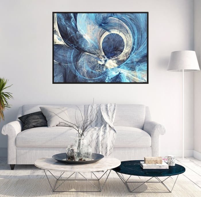 Atlantide blue wall decoration canvas for trendy interior