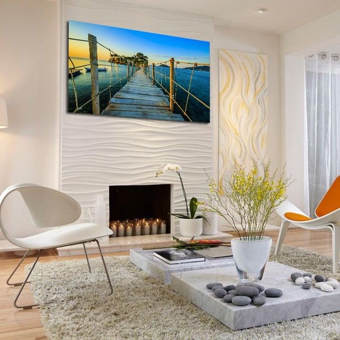 Tableau deco moderne d'une île isolée pour votre décoration
