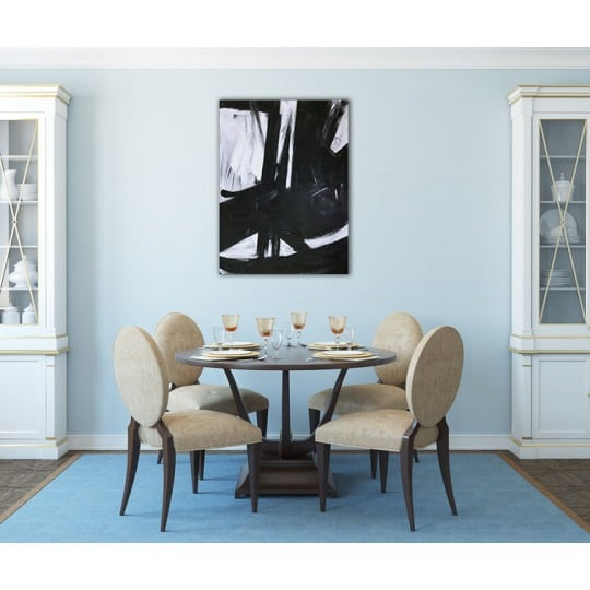 Design black and white oil painting for a modern interior decoration