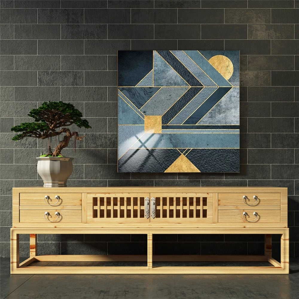 Scandinavian art wall painting for a design interior