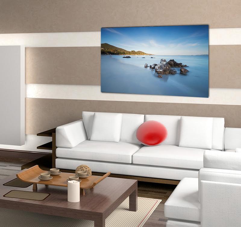 Magnifique photo d'art design de la plage d'Ajaccio pour vous inviter au voyage dans votre décoration intérieure