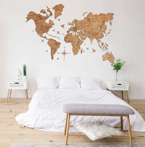 Décoration murale bois chambre