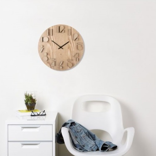 The scandinavian-style wall clock