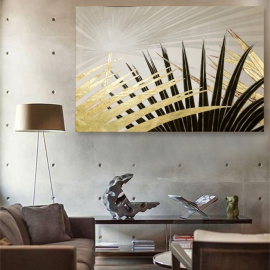 Wall painting in exotic style