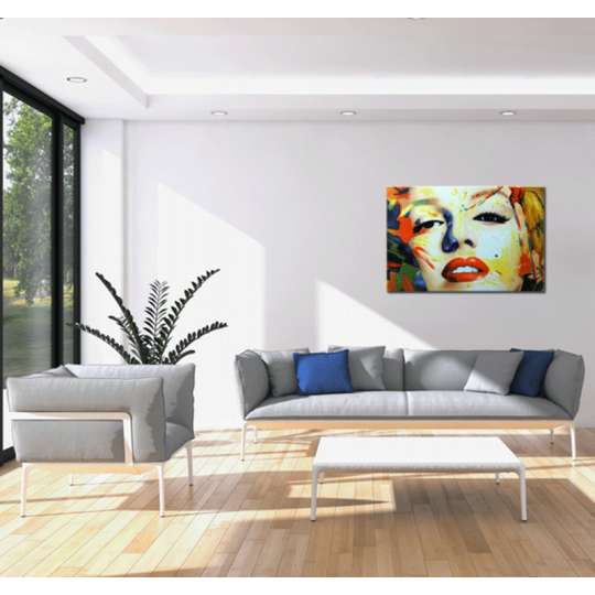 A glamorous style wall painting