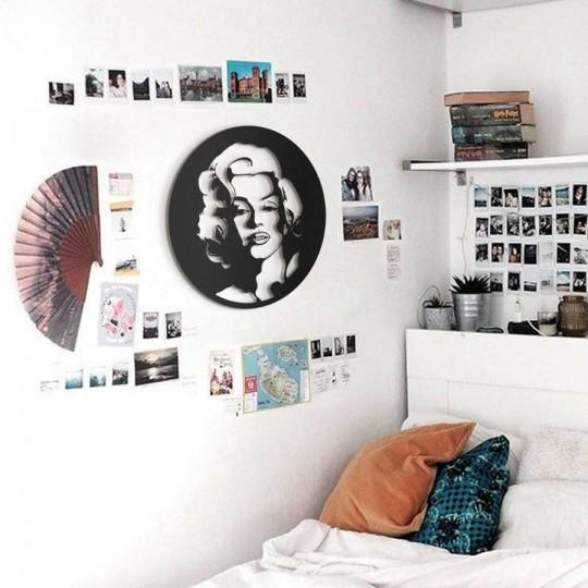Glamorous metal wall decoration