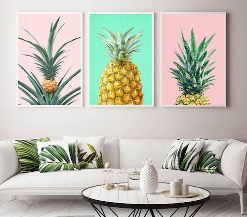 Exotic style on canvas