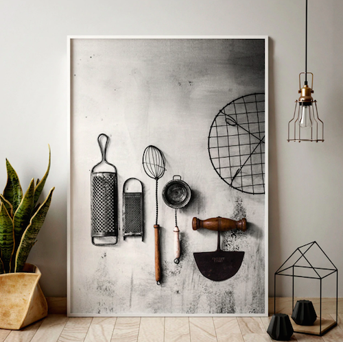 Design canvas print for kitchen wall