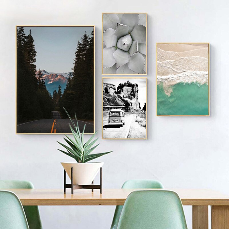 Nature printed canvas for wall decoration