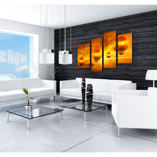Orange color wall decoration