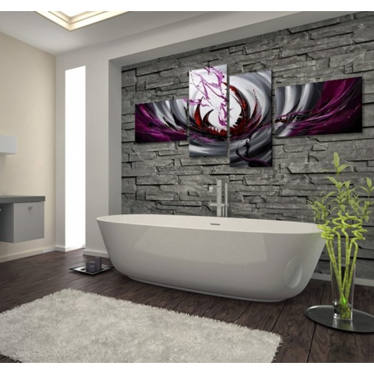 Purple color wall decoration
