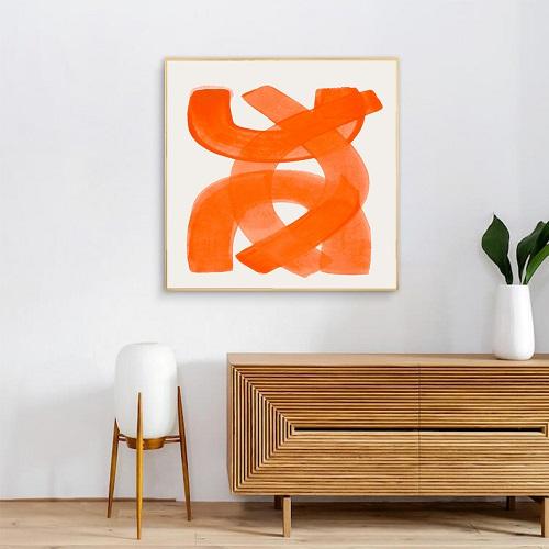 Conseils pour une déco murale orange