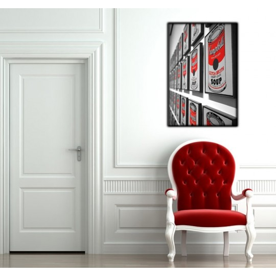 Trendy art photo in red