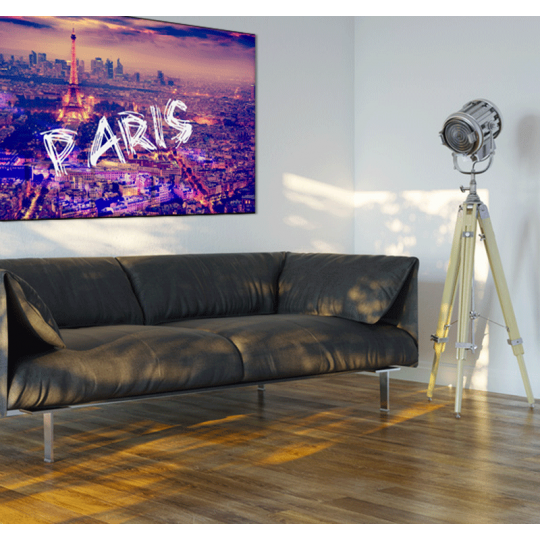 Canvas print with purple color