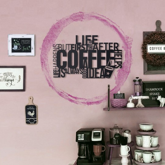 Design wall decoration with violet color
