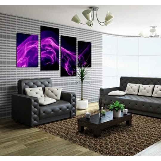 Purple wall decoration tips