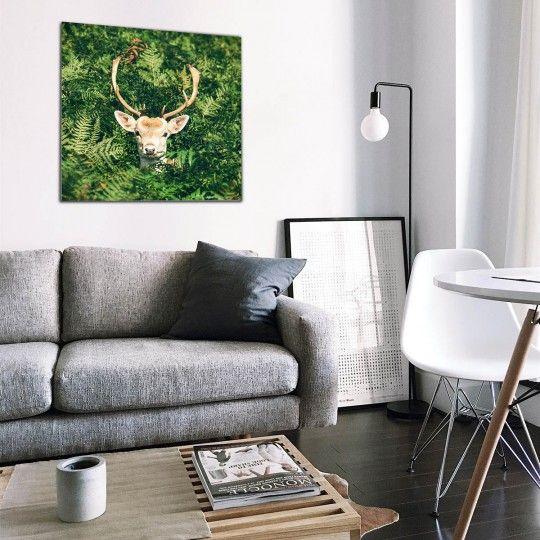 Aluminum art photo in green