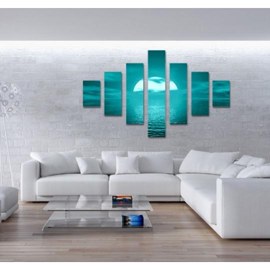 Blue wall canvas print