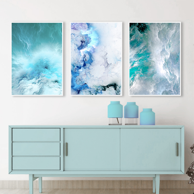 Tips for a blue wall decoration