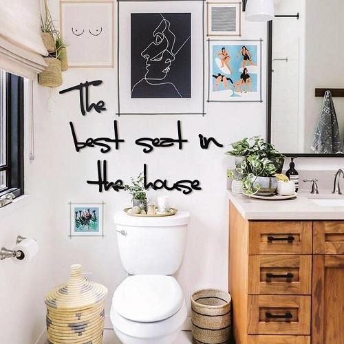 Conseils de déco murale wc