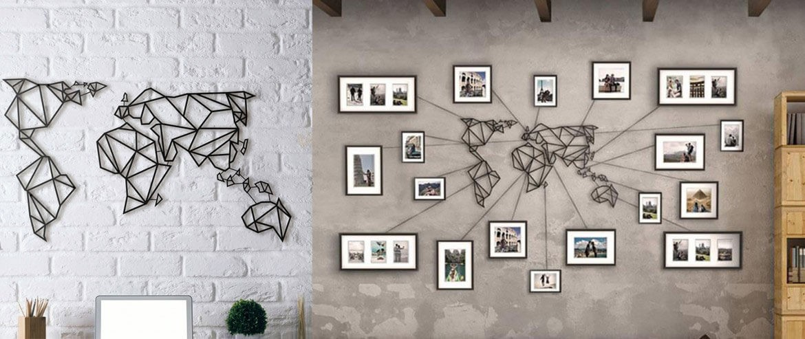 Metal wall decoration of the Artwall and Co's collection for a modern touch