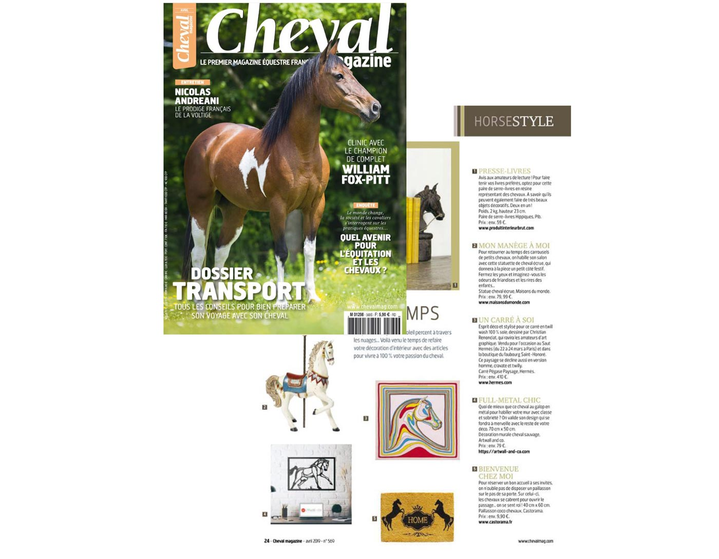 Artwall and co dans Cheval Magazine