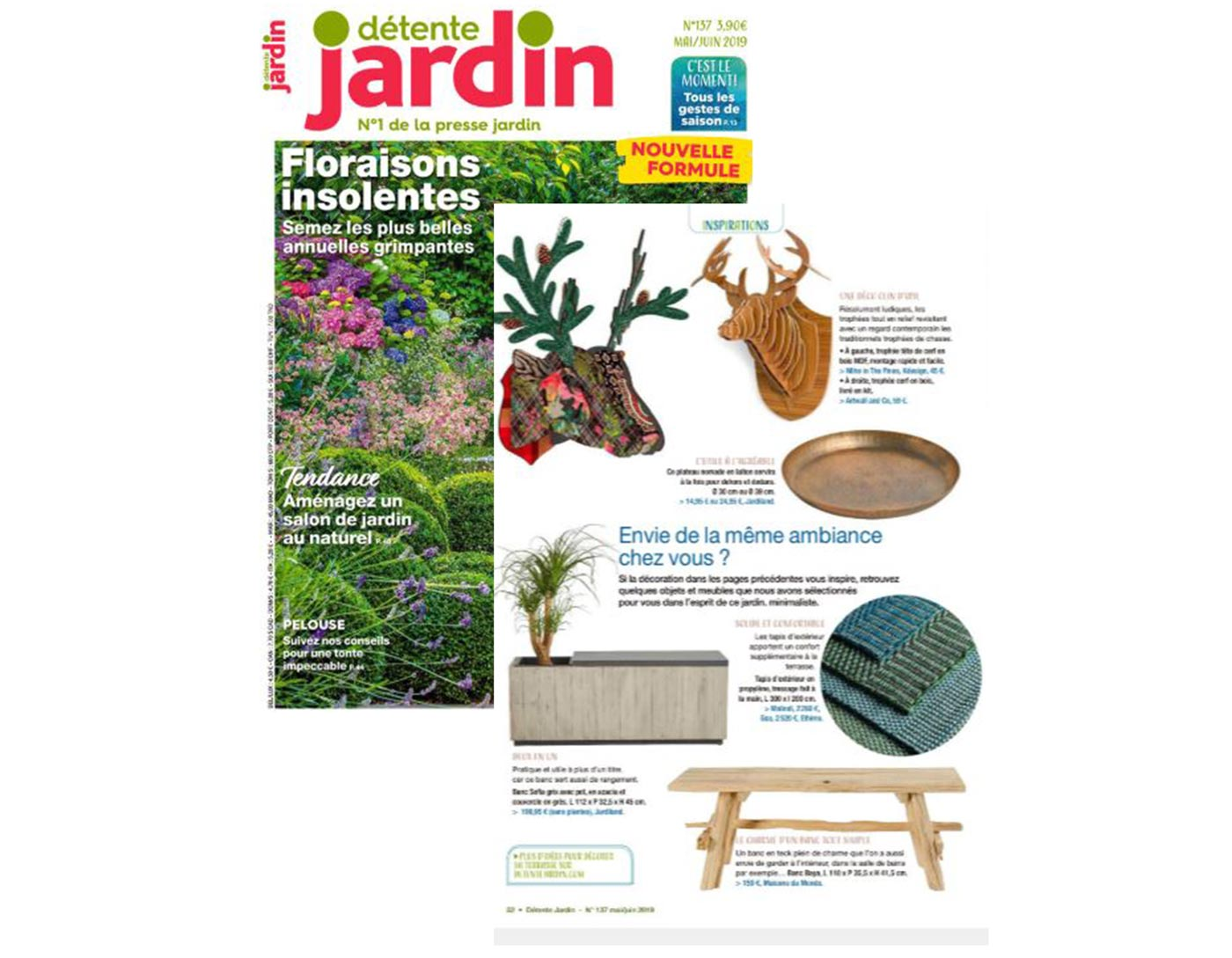 Artwall and co dans Détente jardin magazine