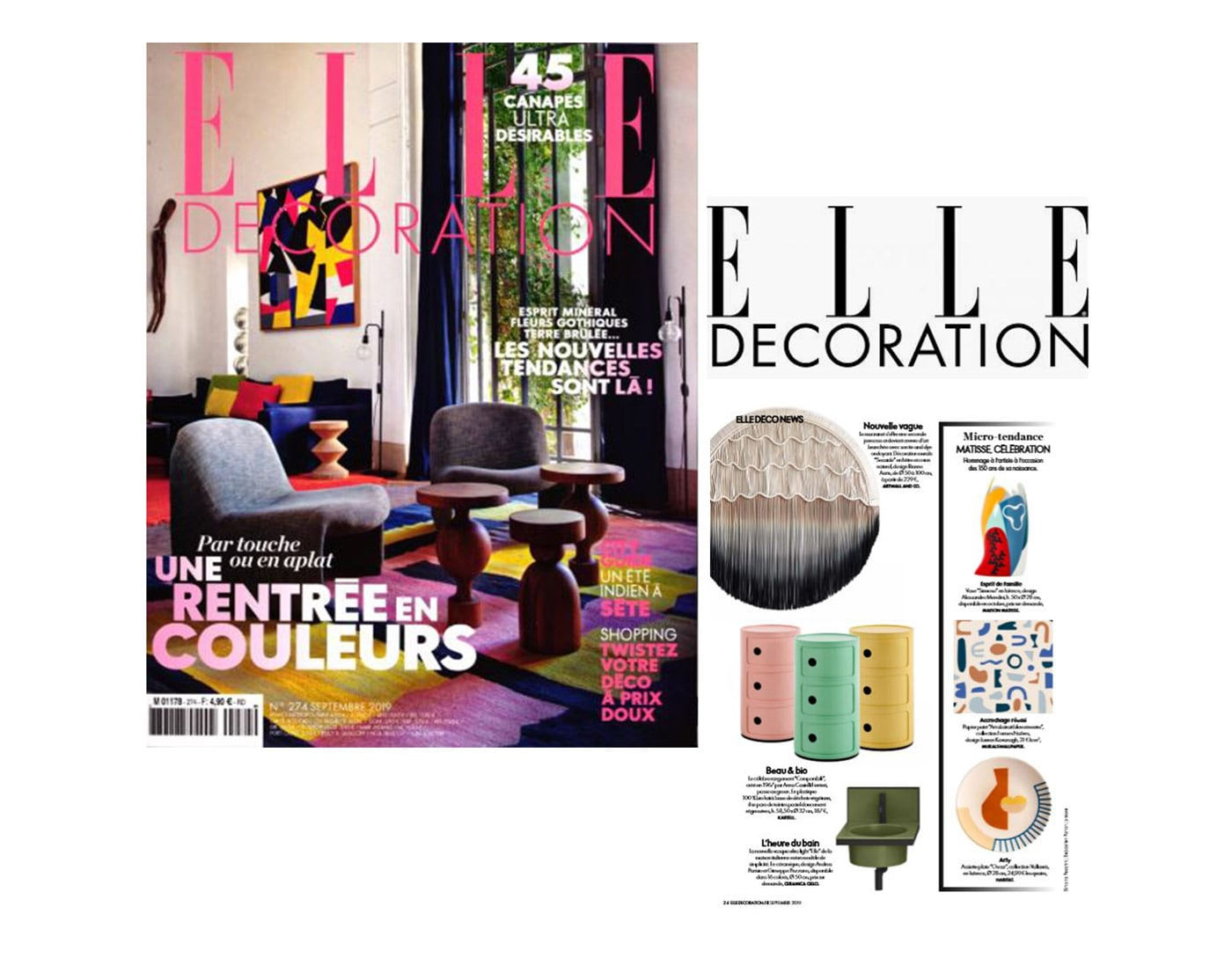 Artwall and co dans Elle Décoration