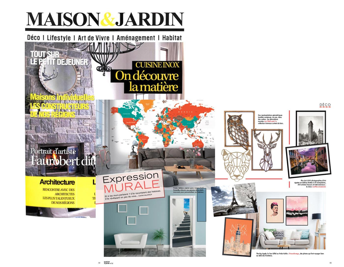 Artwall and co dans Maison & Jardin